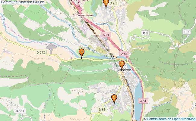 plan Commune Sisteron Associations commune Sisteron : 6 associations