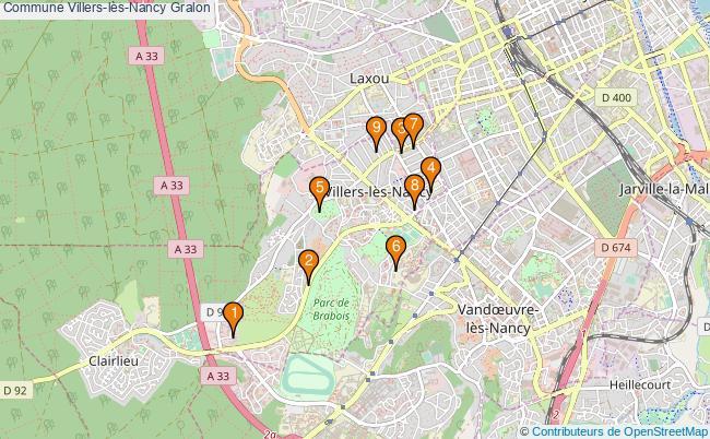 plan Commune Villers-lès-Nancy Associations commune Villers-lès-Nancy : 9 associations