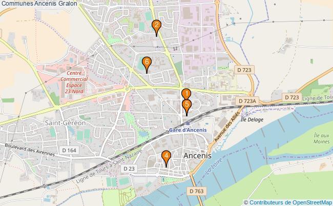 plan Communes Ancenis Associations communes Ancenis : 6 associations
