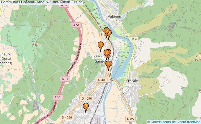 plan Communes Château-Arnoux-Saint-Auban Associations communes Château-Arnoux-Saint-Auban : 6 associations