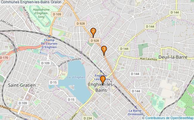 plan Communes Enghien-les-Bains Associations communes Enghien-les-Bains : 3 associations