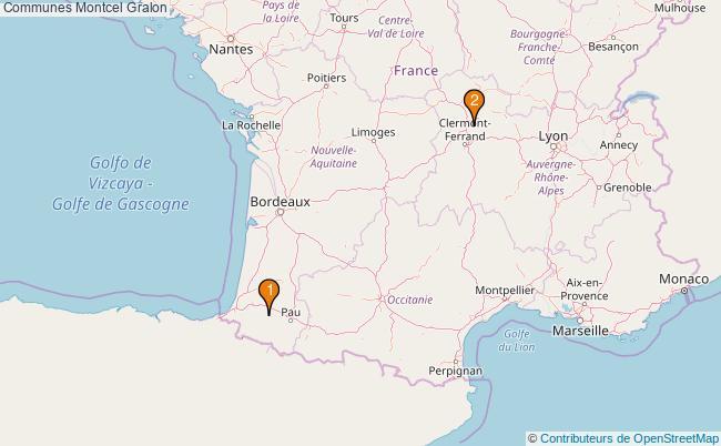 plan Communes Montcel Associations communes Montcel : 2 associations
