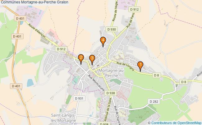 plan Communes Mortagne-au-Perche Associations communes Mortagne-au-Perche : 4 associations