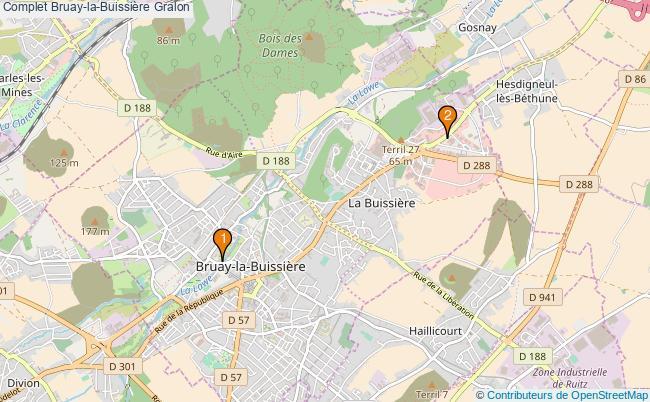 plan Complet Bruay-la-Buissière Associations Complet Bruay-la-Buissière : 2 associations