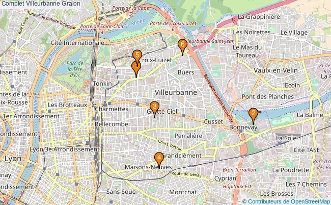 plan Complet Villeurbanne Associations Complet Villeurbanne : 6 associations