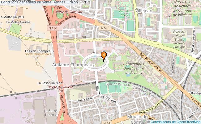 plan Conditions générales de vente Rennes Associations conditions générales de vente Rennes : 4 associations