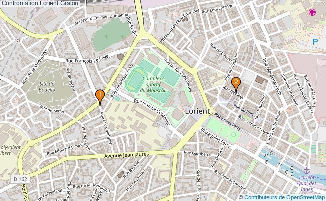 plan Confrontation Lorient Associations Confrontation Lorient : 2 associations
