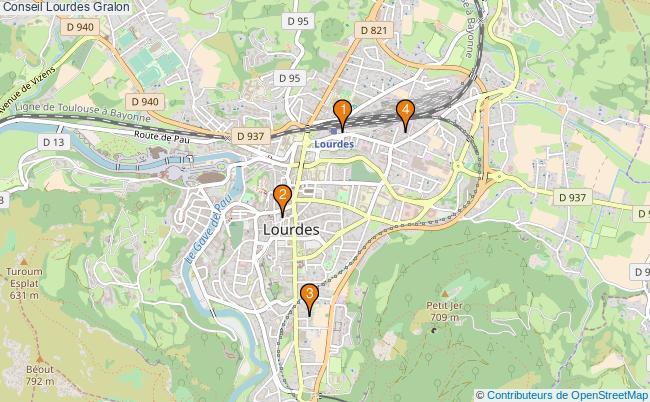 plan Conseil Lourdes Associations Conseil Lourdes : 5 associations