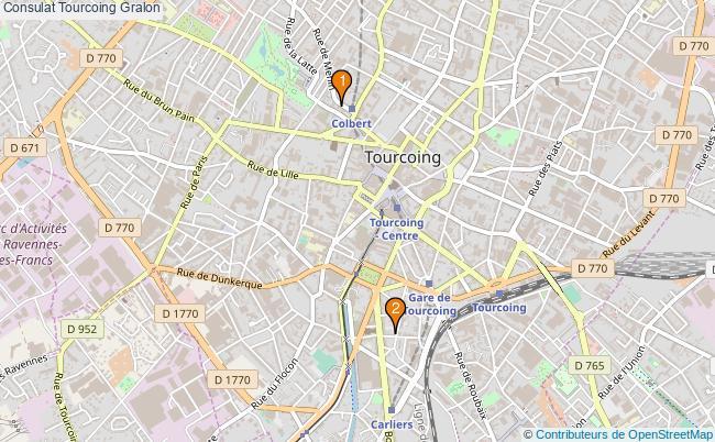 plan Consulat Tourcoing Associations Consulat Tourcoing : 2 associations