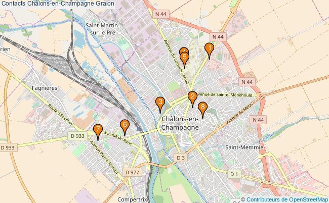 plan Contacts Châlons-en-Champagne Associations Contacts Châlons-en-Champagne : 8 associations