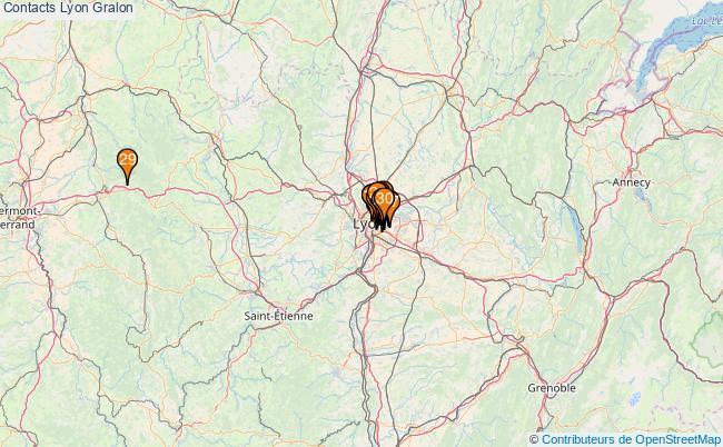 plan Contacts Lyon Associations Contacts Lyon : 114 associations