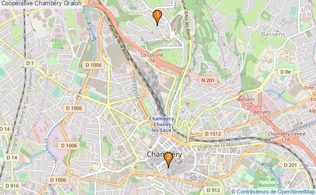 plan Coopérative Chambéry Associations Coopérative Chambéry : 2 associations