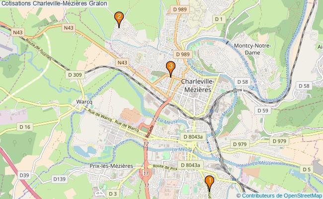 plan Cotisations Charleville-Mézières Associations cotisations Charleville-Mézières : 3 associations