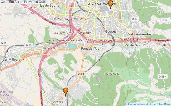 plan Courante Aix en Provence Associations Courante Aix en Provence : 2 associations