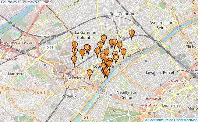 plan Courbevoie Courbevoie Associations Courbevoie Courbevoie : 51 associations