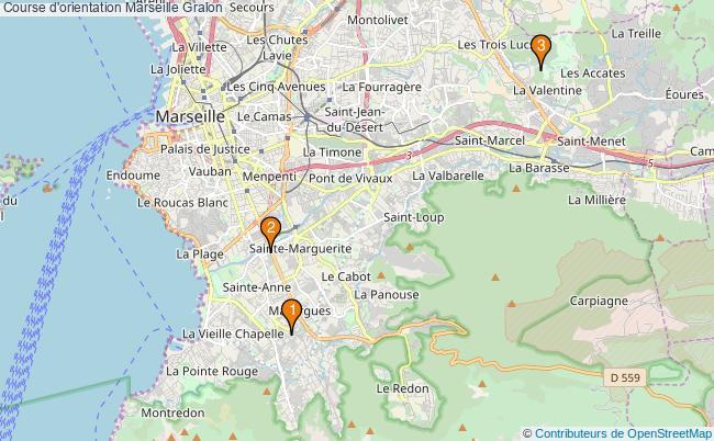 plan Course d'orientation Marseille Associations course d'orientation Marseille : 3 associations