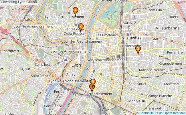 plan Coworking Lyon Associations coworking Lyon : 5 associations