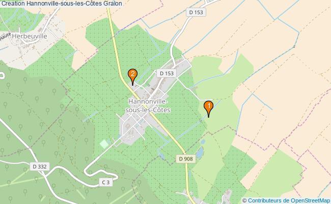 plan Creation Hannonville-sous-les-Côtes Associations Creation Hannonville-sous-les-Côtes : 2 associations