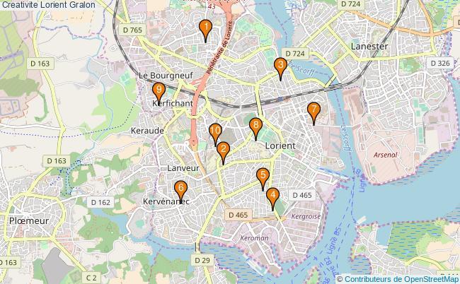 plan Creativite Lorient Associations creativite Lorient : 11 associations