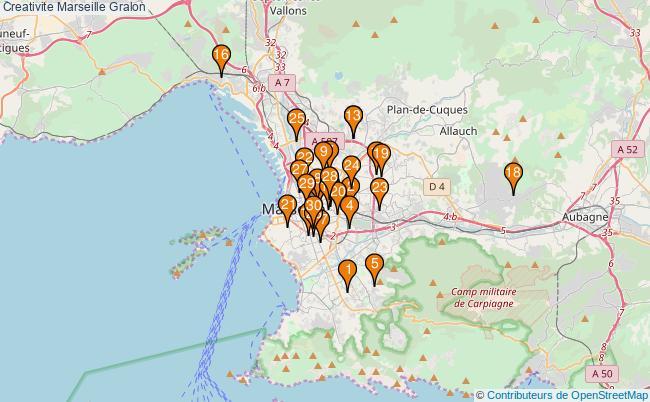plan Creativite Marseille Associations creativite Marseille : 129 associations