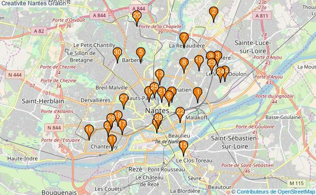 plan Creativite Nantes Associations creativite Nantes : 36 associations