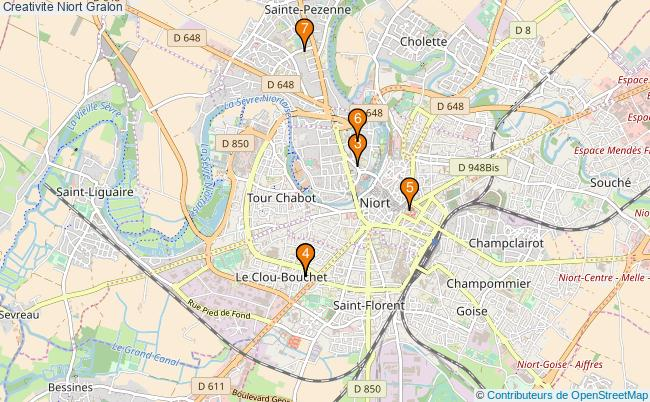 plan Creativite Niort Associations creativite Niort : 6 associations