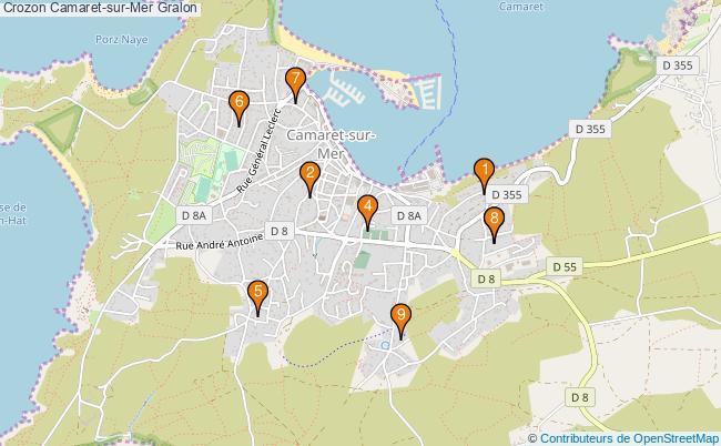 plan Crozon Camaret-sur-Mer Associations Crozon Camaret-sur-Mer : 10 associations