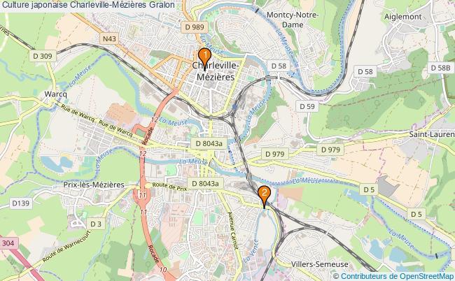 plan Culture japonaise Charleville-Mézières Associations culture japonaise Charleville-Mézières : 2 associations