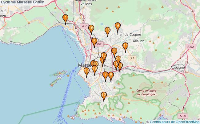 plan Cyclisme Marseille Associations Cyclisme Marseille : 20 associations