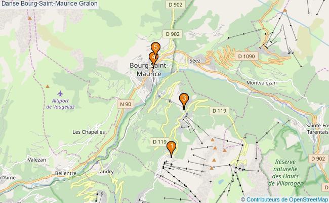plan Danse Bourg-Saint-Maurice Associations danse Bourg-Saint-Maurice : 5 associations