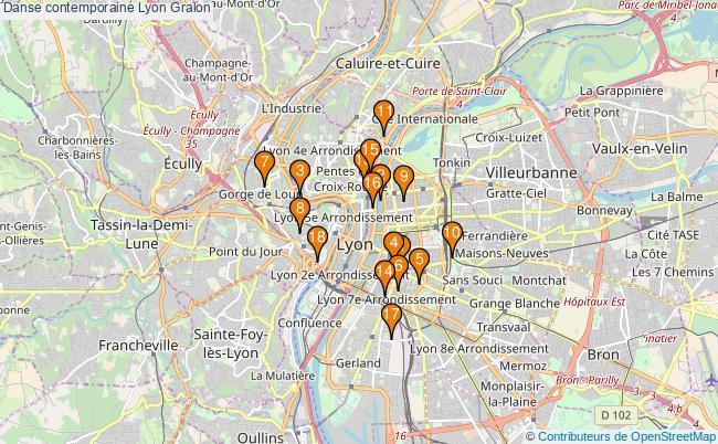 plan Danse contemporaine Lyon Associations danse contemporaine Lyon : 19 associations