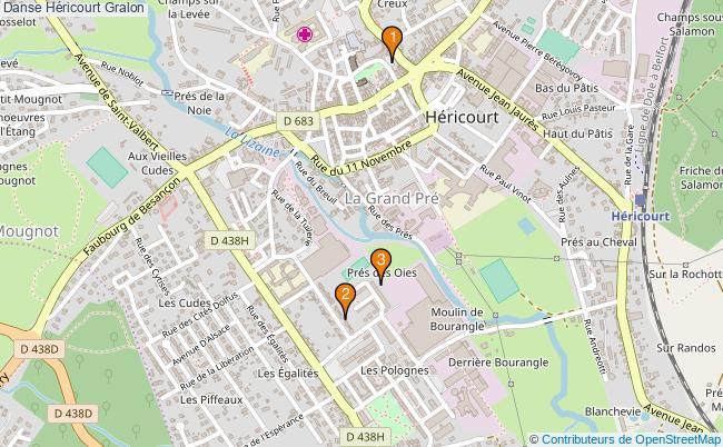 plan Danse Héricourt Associations danse Héricourt : 3 associations