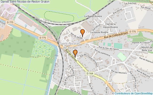 plan Danse Saint-Nicolas-de-Redon Associations danse Saint-Nicolas-de-Redon : 2 associations