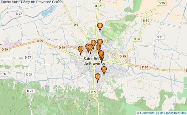 plan Danse Saint-Rémy-de-Provence Associations danse Saint-Rémy-de-Provence : 13 associations