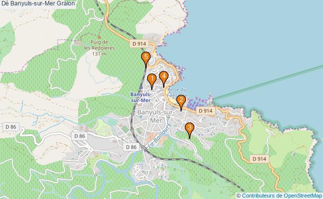 plan Dé Banyuls-sur-Mer Associations dé Banyuls-sur-Mer : 5 associations