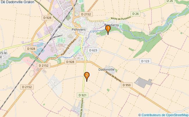 plan Dé Dadonville Associations dé Dadonville : 2 associations