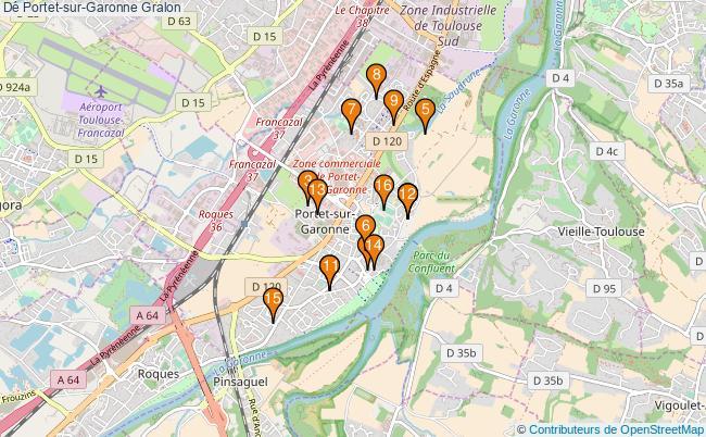 plan Dé Portet-sur-Garonne Associations dé Portet-sur-Garonne : 16 associations