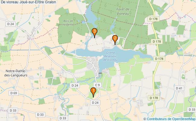 plan De vioreau Joué-sur-Erdre Associations de vioreau Joué-sur-Erdre : 3 associations