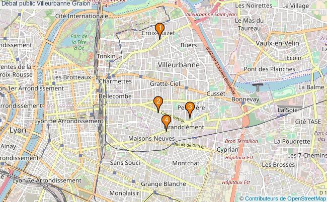 plan Débat public Villeurbanne Associations débat public Villeurbanne : 5 associations