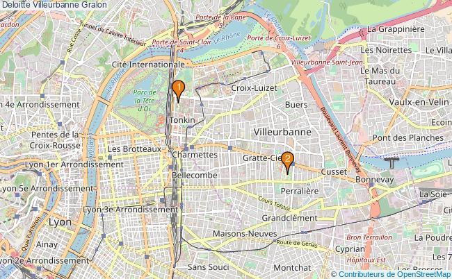 plan Deloitte Villeurbanne Associations Deloitte Villeurbanne : 2 associations