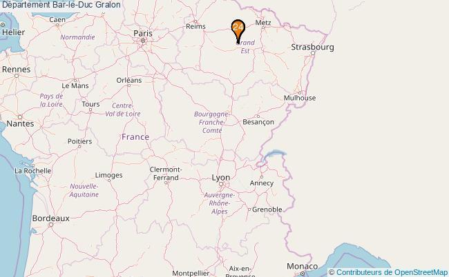 plan Département Bar-le-Duc Associations département Bar-le-Duc : 23 associations