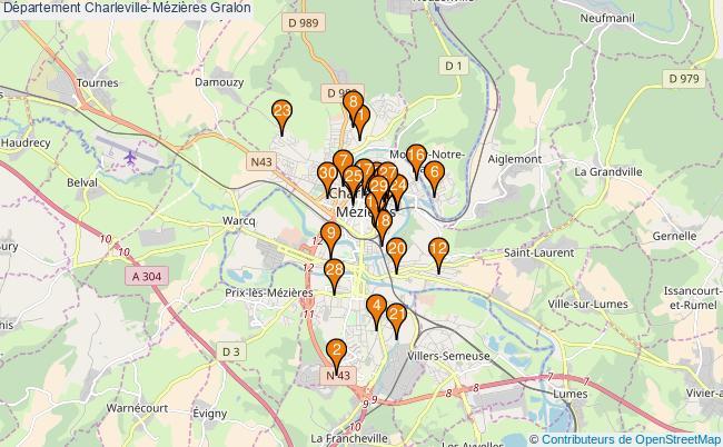 plan Département Charleville-Mézières Associations département Charleville-Mézières : 37 associations