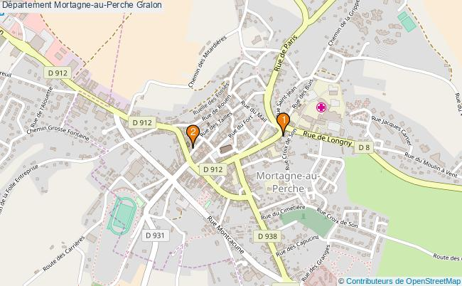 plan Département Mortagne-au-Perche Associations département Mortagne-au-Perche : 2 associations