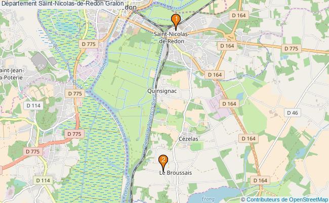 plan Département Saint-Nicolas-de-Redon Associations département Saint-Nicolas-de-Redon : 2 associations