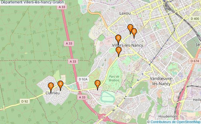plan Département Villers-lès-Nancy Associations département Villers-lès-Nancy : 8 associations