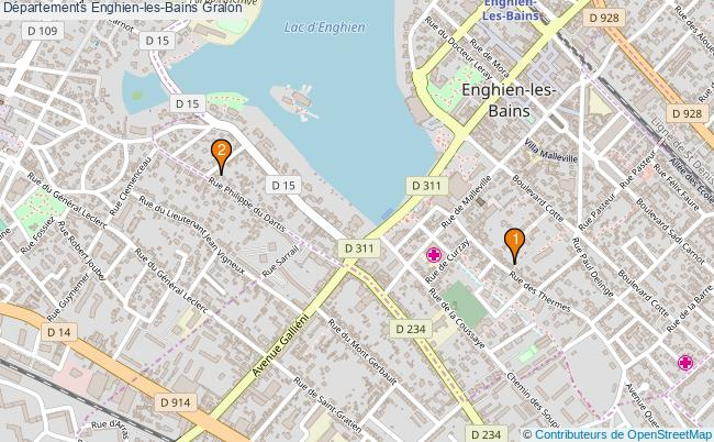 plan Départements Enghien-les-Bains Associations départements Enghien-les-Bains : 2 associations