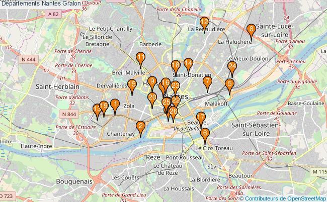 plan Départements Nantes Associations départements Nantes : 26 associations