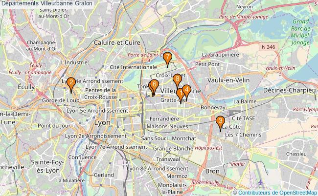plan Départements Villeurbanne Associations départements Villeurbanne : 8 associations
