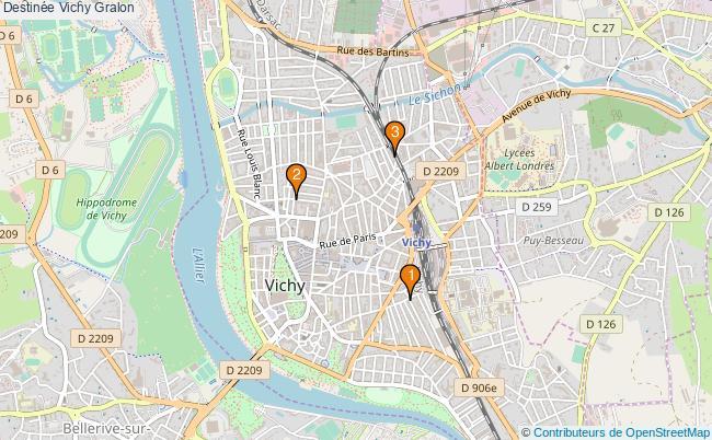 plan Destinée Vichy Associations Destinée Vichy : 3 associations