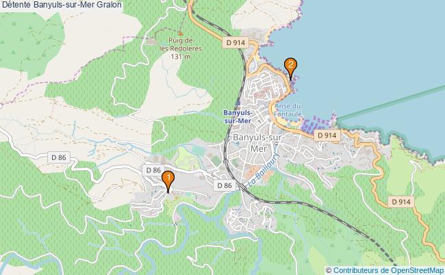 plan Détente Banyuls-sur-Mer Associations Détente Banyuls-sur-Mer : 2 associations